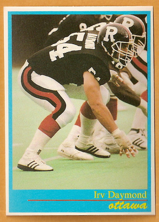 Irv Daymond CFL card 1987 Jogo #15 Ottawa Rough Riders  Western Ontario Mustangs