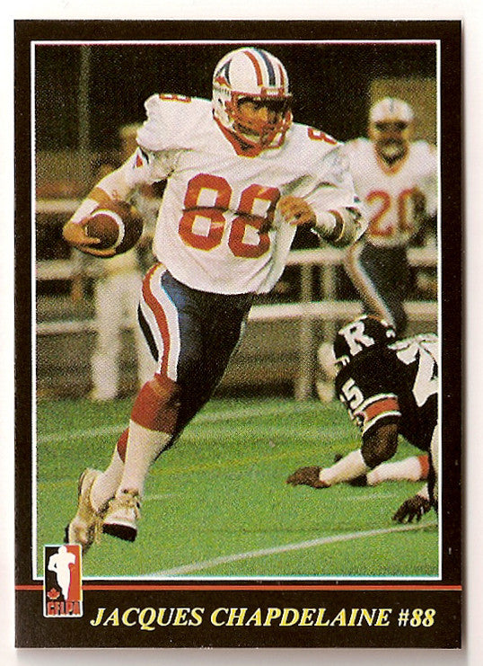 Jacques Chapdelaine CFL card 1986 Jogo #48 Montreal Concordes  Simon Fraser Clansmen