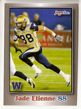 Jade Etienne CFL card 2012 Jogo #122 Winnipeg Blue Bombers  Saskatchewan Huskies