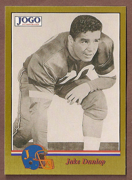 Jake Dunlap CFL card 1994 Jogo Missing Years #14C Ottawa Rough Riders  Osgoode Hall