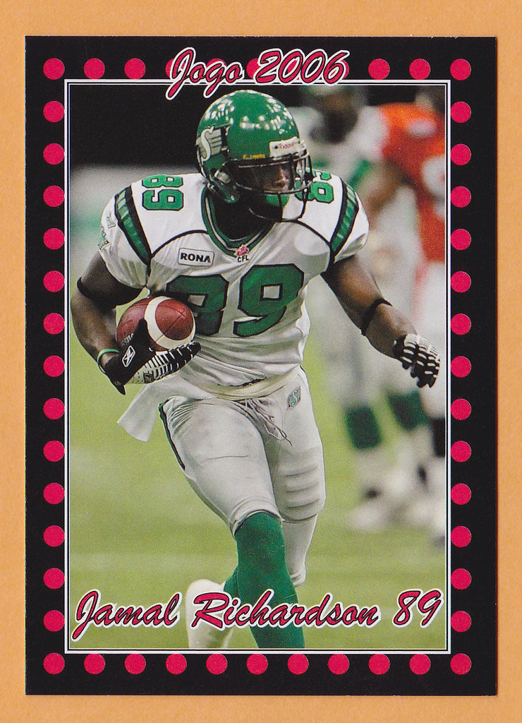 Jamel Richardson CFL card 2006 Jogo #59 Saskatchewan Roughriders  Victor Valley Rams
