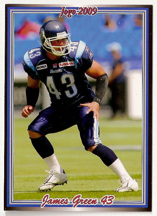 James Green CFL card 2009 Jogo #91 Toronto Argonauts  Calgary Dinos