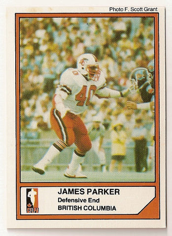 James Quick Parker CFL card 1984 Jogo #71 BC Lions  Wake Forest Demon Deacons  Hall of Fame