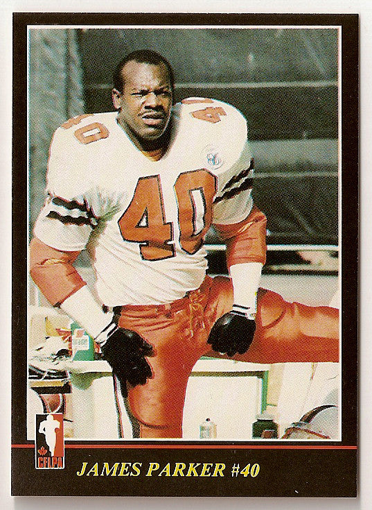 James Quick Parker CFL card 1986 Jogo #59 BC Lions  Wake Forest Demon Deacons  Hall of Fame