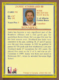 Jamie Stoddard CFL card 2004 Jogo #194 Winnipeg Blue Bombers  Alberta Golden Bears