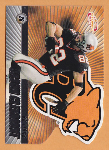 Jason Clermont 2003 Pacific Atomic CFL card #3 BC Lions Regina Rams