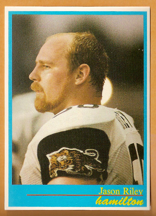 Jason Riley CFL card 1987 Jogo #55 Hamilton Tiger-Cats  UBC Thunderbirds