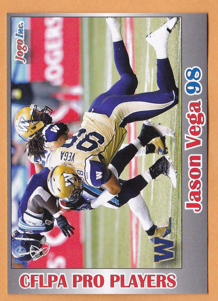 Jason Vega CFL card 2012 Jogo Pro Player #139 Winnipeg Blue Bombers  Northeastern Huskies