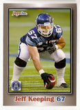 Jeff Keeping CFL card 2012 Jogo #100 Toronto Argonauts  Western Ontario Mustangs