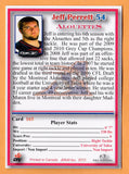 Jeff Perrett CFL card 2012 Jogo Pro Player #165 Montreal Alouettes  Tulsa Golden Hurricanes