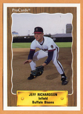 Jeff Richardson 1990 Buffalo Bisons Minor League Baseball  Louisiana Tech Bulldogs  Arkansas Razorbacks  Grand Island Islanders  |  Boston Red Sox Cincinnati Reds Pittsburgh Pirates