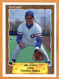 Jim Leyritz 1990 Columbus Clippers Minor League Baseball  Kentucky Wildcats  Turpin Lancers  |  New York Yankees San Diego Padres Texas Rangers Boston Red Sox Anaheim Angels Los Angeles Dodgers