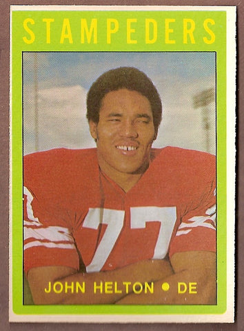 John Helton CFL card 1972 O-Pee-Chee #57 Calgary Stampeders  Arizona State Sun Devils  Hall of Fame