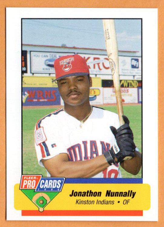 Jonathon Nunnally 1994 Kinston Indians Minor League Baseball  Miami Dade Sharks  Hargrave Military Academy Tigers  |  Kansas City Royals Cincinnati Reds Boston Red Sox New York Mets