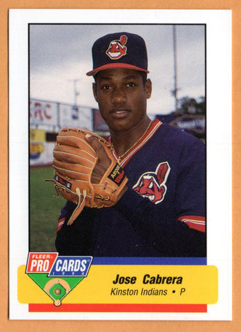Jose Cabrera 1994 Kinston Indians Minor League Baseball  Santiago, Dominican Republic  |  Houston Astros Atlanta Braves Milwaukee Brewers