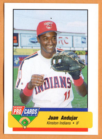 Juan Andujar 1994 Kinston Indians Minor League Baseball  Bani, Dominican Republic