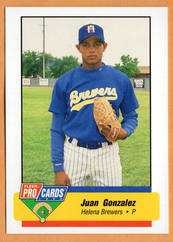 Juan Gonzalez 1994 Helena Brewers Minor League Baseball  Bani, Dominican Republic