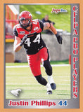 Justin Phillips CFL card 2012 Jogo Pro Player #190 Calgary Stampeders  Wilfrid Laurier Golden Hawks