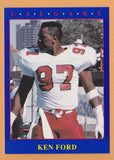Ken Ford CFL card 1990 Jogo #33 Calgary Stampeders  Texas A&M Aggies