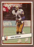Ken Hailey CFL card 1985 Jogo #101 Winnipeg Blue Bombers  San Francisco State Gators