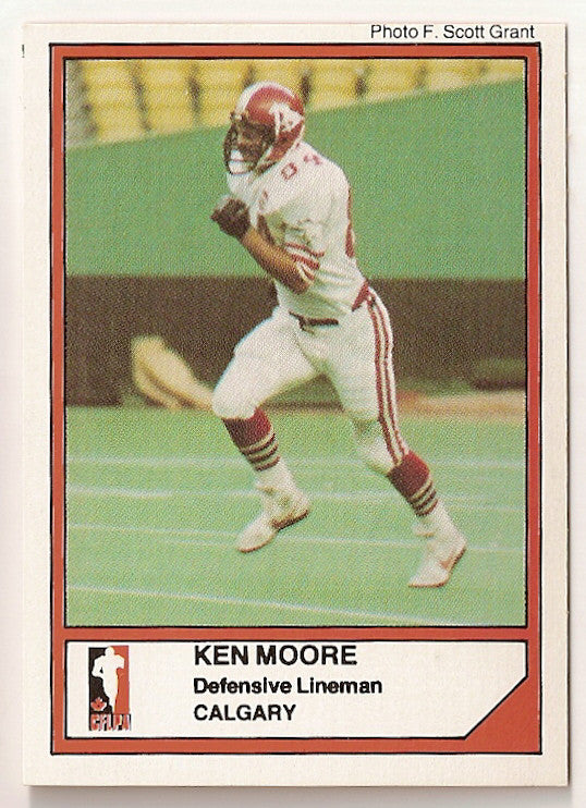 Ken Moore CFL card 1984 Jogo #95 Calgary Stampeders  Hawaii Warriors