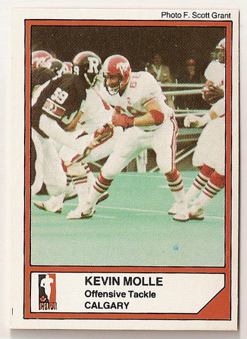 Kevin Molle CFL card 1984 Jogo #92 Calgary Stampeders  Fresno State Bulldogs