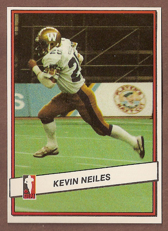 Kevin Neiles CFL card 1985 Jogo #100 Winnipeg Blue Bombers  Manitoba Bisons
