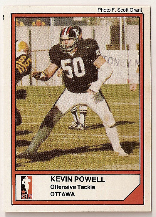 Kevin Powell CFL card 1984 Jogo #23 Ottawa Rough Riders  Utah State Aggies