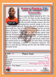 Korey Banks CFL card 2012 Jogo Pro Player #14 BC Lions  Mississippi State Bulldogs