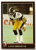 Lance Shields CFL card 1986 Jogo #8 Hamilton Tiger-Cats  Drake Bulldogs
