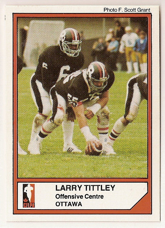 Larry Tittley CFL card 1984 Jogo #29 Ottawa Rough Riders  Concordia Stingers