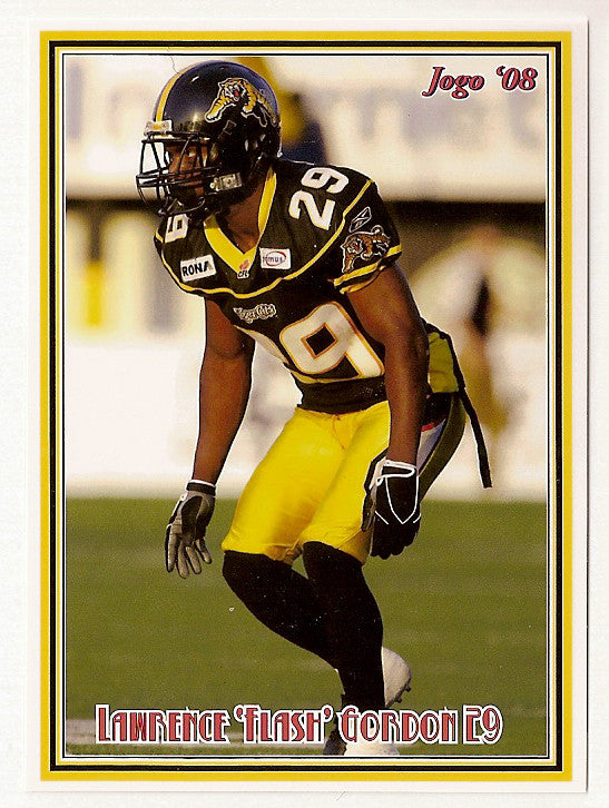 Lawrence Gordon CFL card 2008 Jogo #174 Hamilton Tiger-Cats  Florida Atlantic Owls