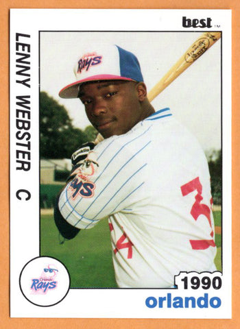 Lenny Webster 1990 Orlando Sun Rays Minor League Baseball  Grambling State Tigers  Lutcher Bulldogs  |  Minnesota Twins Montreal Expos Philadelphia Phillies Boston Red Sox Baltimore Orioles