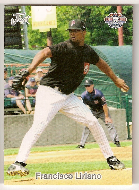 Francisco Liriano 2005 Just Minors Road to the Show Minor League Baseball New Britain Rock Cats  San Cristobal, Dominican Republic  |  Minnesota Twins Pittsburgh Pirates Toronto Blue Jays Chicago White Sox Houston Astros Detroit Tigers