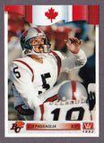 Lui Passaglia CFL card 1992 All World #113 BC Lions  Simon Fraser Clansmen  Hall of Fame