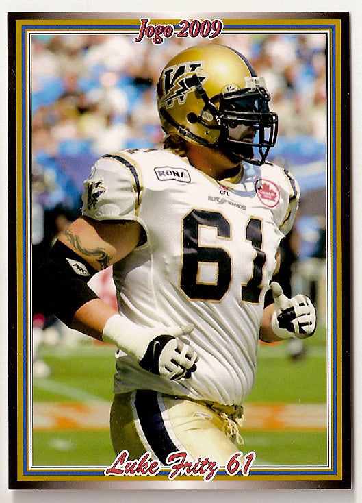 Luke Fritz CFL card 2009 Jogo #152 Winnipeg Blue Bombers  Eastern Washington Eagles