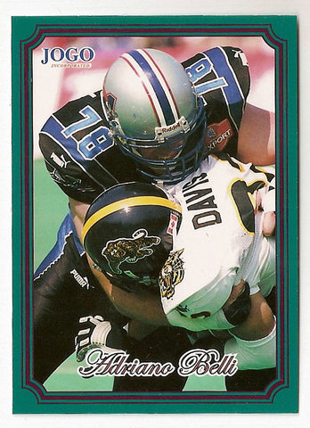 Adriano Belli CFL card 2002 Jogo #139 Montreal Alouettes  Houston Cougars