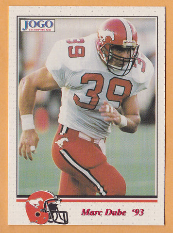 Mark Dube CFL card 1993 Jogo #194 Calgary Stampeders  Maine Black Bears