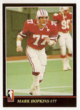 Mark Hopkins CFL card 1986 Jogo #50 Montreal Concordes  York Lions