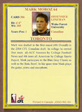 Mark Moroz CFL card 2004 Jogo #206 Toronto Argonauts  Wake Forest Demon Deacons