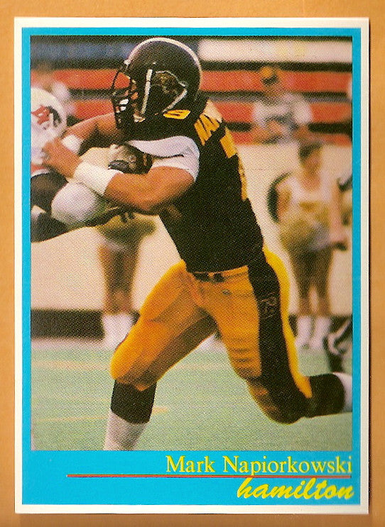 Mark Napiorkowski CFL card 1987 Jogo #91 Hamilton Tiger-Cats  UBC Thunderbirds