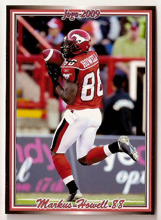 Markus Howell CFL card 2009 Jogo #128 Calgary Stampeders  Texas Southern Tigers