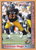 Marwan Hage CFL card 2012 Jogo Pro Player #191 Hamilton Tiger-Cats  Colorado Buffaloes