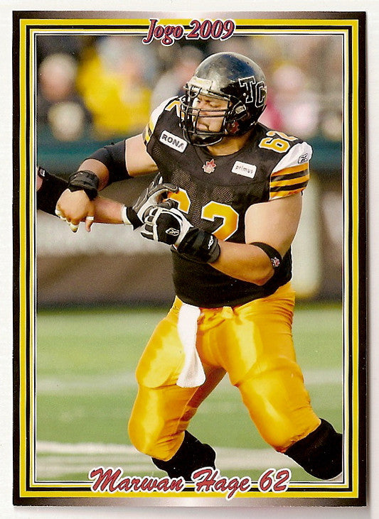 Marwan Hage CFL card 2009 Jogo #166 Hamilton Tiger-Cats  Colorado Buffaloes