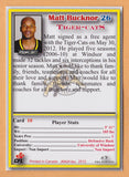 Matt Bucknor CFL card 2012 Jogo #10 Hamilton Tiger-Cats  Windsor Lancers