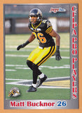 Matt Bucknor CFL card 2012 Jogo Pro Player #192 Hamilton Tiger-Cats  Windsor Lancers