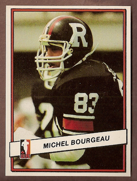 Michel Bourgeau CFL card 1985 Jogo #2 Ottawa Rough Riders  Boise State Broncos