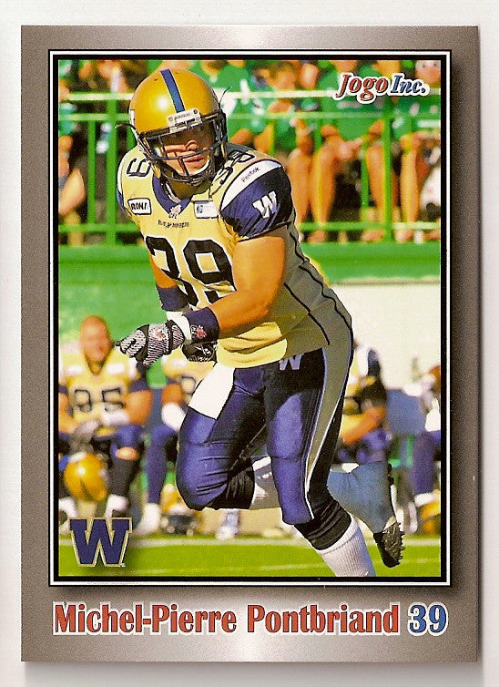 Michel-Pierre Pontbriand CFL card 2012 Jogo #141 Winnipeg Blue Bombers  Laval Rouge et Or
