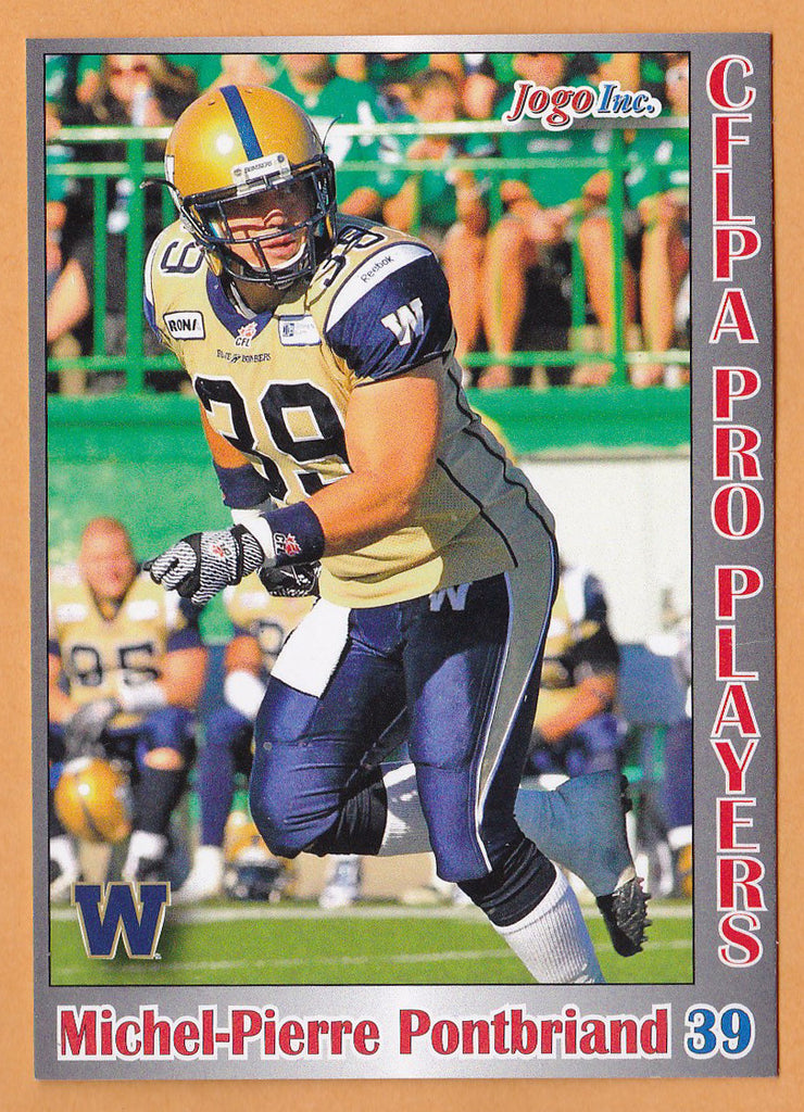 Michel-Pierre Pontbriand CFL card 2012 Jogo Pro Player #141 Winnipeg Blue Bombers  Laval Rouge et Or