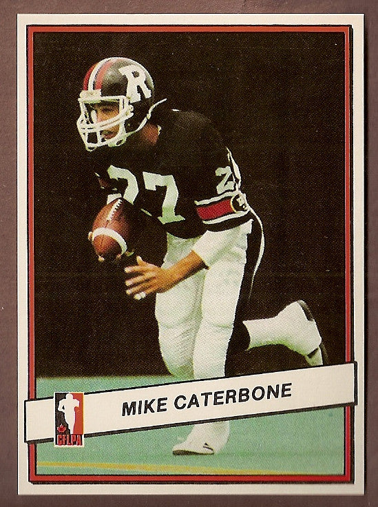 Mike Caterbone CFL card 1985 Jogo #15 Ottawa Rough Riders  Franklin and Marshall Diplomats